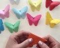 Kreativní nápad na překrásné jarní motýli z barevného papíru – vytvořené za 2 minuty!